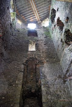 Dover Castle - Inside of Ancient Roman Lighthouse