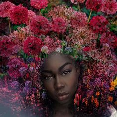The Haitian Instagram artist uses nature and the cosmos to celebrate black women's natural tresses.