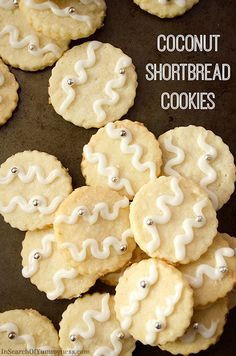 These Coconut Shortbread Cookies work well for a cookie swap, because you can easily make several batches.