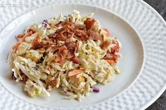 Coleslaw Chicken Salad with Peppery Dressing (low calorie)