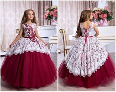 Burgundy Bridesmaid Dress, Burgundy lace dress, Burgundy lace dress, White Flower Girl Dress, Long S Lace Burgundy Dress, Burgundy Bridesmaid Dresses, Lace Dress, Dress Red, Dress Long, Toddler Flower Girl Dresses, Dresses Kids Girl, Kids Party Wear Dresses, Blush Flower Girl Dresses