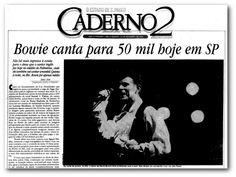 Fotos Históricas: David Bowie no Brasil - noticias - O Estado de S. Paulo - Acervo Estadão