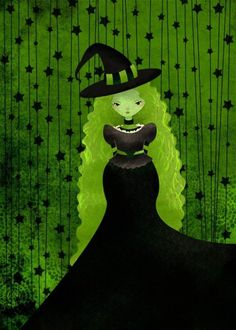 Green & Black Witch