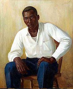 Raza soñadora - retrato de Ciquí  (Race of Dreamers - Portrait of Ciquí.) 1938 by Puerto Rican Artist Miguel Pou,