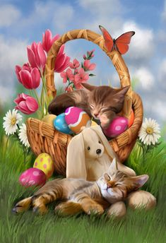 Hard Day With The Easter Bunny by Thomas Wood