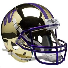 Washington Huskies Schutt XP Mini Helmet - Chrome Gold