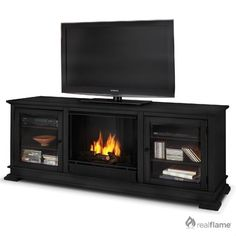 Bluworld La Strada Freestanding Fireplace Tempered Clear Glass Black Heat Resistant Powder Coat | Wayfair