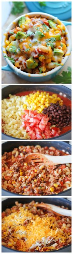 One Pot Mexican Skillet Pasta #easy #mexican #pasta #dinner