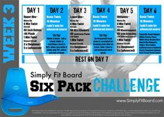 Simply Fit Board - SIX PACK CHALLENGE