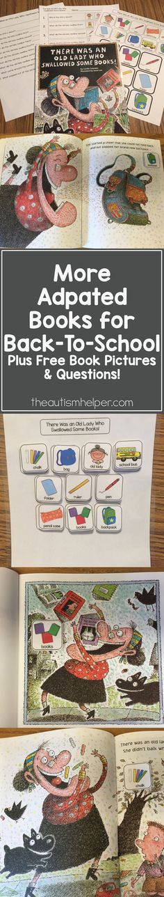 FREE book pictures, sequencing pictures & visual question sheet from the blog! From theautismhelper.com #theautismhelper