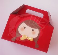 Caja cotillón - recuerdo. Caperucita Roja  #RedRiddingHood #LunchBox