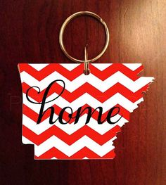 Arkansas Keychain  Personalized with Multiple by PiperGraceGifts