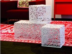 Table basse carrée en coton CROCHET TABLE - Moooi©