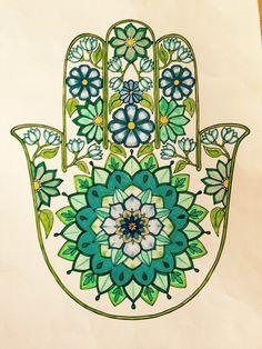 Hamsa Drawing, Hamsa Art, Mandala Art, Hand Der Fatima, Hamsa Design, Hamsa Jewelry, Jewish Art, Hippie Art, String Art