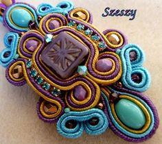 SOUTACHE KIT Soutache Embroidery Soutache Bracelet Handmade soutache Bracelet Designer soutache bracelet. $66.00, via Etsy.