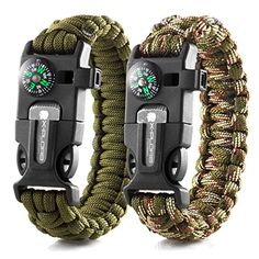 X-Plore Gear Emergency Paracord Bracelets | Set Of 2| The ULTIMATE Tactical Survival Gear| Flint Fire Starter, Whistle, Compass & Scraper/Knife| BEST Wilderness Survival-Kit For Camping/Fishing & More - A SAFE PURCHASE: We at X-Plore Gear, manufacture our 550 paracord bracelets according to the highest standards so that you can enjoy them for as long as possible. You can rest assured that our survival bracelets are 100% reliable when the time comes to use them, unlike many other competing…