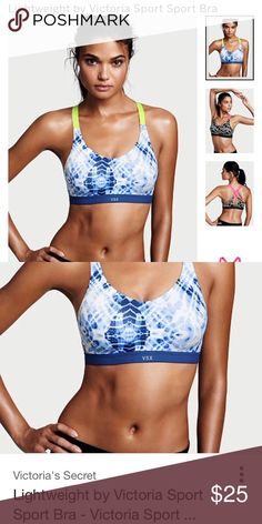 9ec05092e4 SALE 👗NWT Lightweight by VS Sport Bra Size Blue Tie Dye