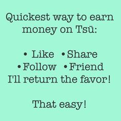 Just started today and diggin it a more than Facebook Build your profile and get paid for your value you share ***Click Below*** https://www.tsu.co/WashingtonAve