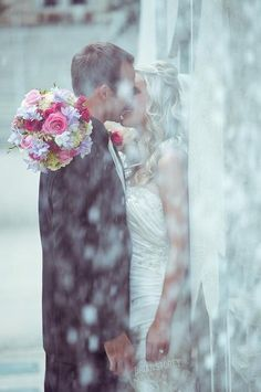 Kissing in the rain - I kinda hope it rains on the day of my wedding just for kissing purposes