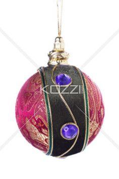 christmas ball on strap - Christmas ball on strap in a full length image
