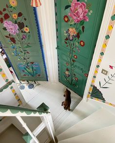 Painted Doors, French Artists, House Painting, Painted Furniture, Beautiful Flowers, Flowers Nature, Fairy Tales, Crafts, Wallpaper