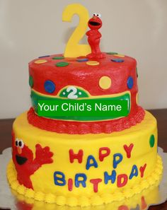 Elmo Birthday Cake!