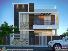 ft modern home design Gt Gt Indian House Exterior Design, Modern Exterior House Designs, Latest House Designs, Kerala House Design, Exterior Wall Design, House Outer Design, Modern Small House Design, House Outside Design, House Front Design