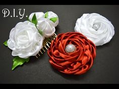 ✾ ❀ ❁ D.I.Y. Satin Ribbon Rosette - Tutorial ❁ ❀ ✾ - YouTube