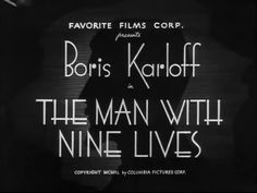 The Man With Nine Lives- Thriller, Sci-Fi- Napisy Pl - wideo w cda. Nine Lives, Columbia Pictures, Thriller, The Man, Sci Fi, Movies, Movie Theater, Films, Science Fiction