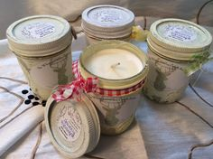 Beautifully unique and affordable soy-based candles in distressed, clear-coated Mason Jars,  available at:  https://www.etsy.com/shop/findyourwaynaturals  Explore our variety of all-natural whipped body butters, soaps, and candles today! *Also, custom orders available for large quantities of distressed Mason Jars with/without candle for your next occasion or gathering!* For pricing, contact Kristy at kristy31990@gmail.com!