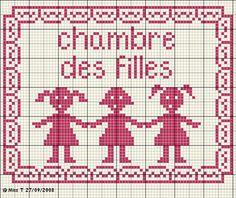 enfant - child - fille - point de croix - cross stitch - Blog : http://broderiemimie44.canalblog.com/