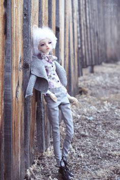 Outfit floral blouse & grey pants for Doll Chateau KID  k-7/k-11 body by GlamouriaDollClothes on Etsy https://www.etsy.com/listing/580485054/outfit-floral-blouse-grey-pants-for-doll