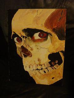 Evil Dead 2 Skull Painting by ~scorpio3991