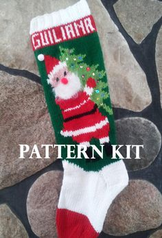 Hey, I found this really awesome Etsy listing at https://www.etsy.com/listing/198984289/knitted-christmas-stocking-pattern-and
