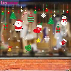 Merry Christmas Window Sticker 2019 Christmas Decoration For Home Tree Ornaments Xmas Santa Claus Snowman Happy New Year 2020 Christmas Window Stickers, Wall Stickers Window, Christmas Decorations For The Home, Christmas Crafts For Kids, Merry Christmas, Christmas Home, Christmas Ornaments, Winter Christmas, Clipart Noel
