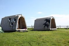 Wheems Organic Farm Bothies, South Ronaldsay, Orkney. These small wooden structures, designed and built on the farm, resemble the traditional upturned boat shelter http://www.organicholidays.com/at/3150.htm