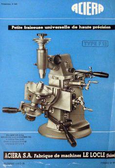 Milling Machine, Machine Tools, Le Locle, Maker Shop, Turning Tools, Antique Tools, Garage Workshop, Dremel, Man Cave
