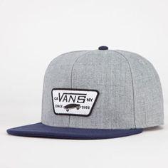 VANS Full Patch Mens Snapback Hat - GRAY - VN-0QPUPBL 23f875aefa12