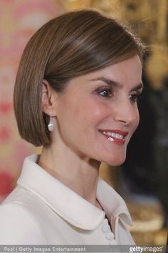 King Felipe VI of Spain and Queen Letizia of Spain attends the lunch in ocassion of the '2014 Cervantes Award' at the Royal Palace on April 22, 2015 in Madrid, Spain.