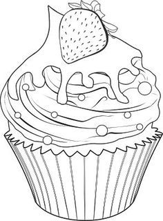 Spectacular Cute drawings: Cupcakes, ice cream and truffles (Cupcakes, ice cream . - Spectacular Cute drawings: Cupcakes, ice cream and truffles (Cupcakes, ice cream … - Food Coloring Pages, Printable Coloring Pages, Adult Coloring Pages, Coloring Pages For Kids, Coloring Sheets, Coloring Books, Cupcake Coloring Pages, Kids Coloring, Sweet Drawings