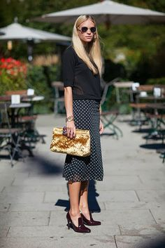 polka dot and black
