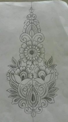 The Latest Trend in Embroidery – Embroidery on Paper - Embroidery Patterns Hand Embroidery Design Patterns, Hand Work Embroidery, Flower Embroidery Designs, Embroidery Motifs, Paper Embroidery, Machine Embroidery, Embroidery Fashion, Fabric Paint Designs, Fabric Painting