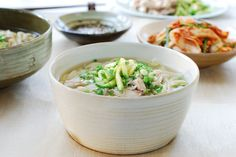 Korean chicken noodle soup