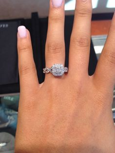 Vera Wang engagement ring from her Love collection
