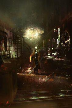 Original #Constantine concept artwork of the Mill house