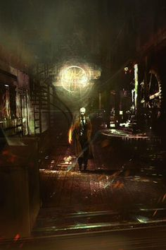 Original #Constantine concept artwork of the Mill house