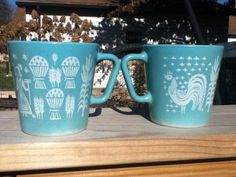 Butterprint mugs by Pyrex