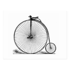 Bicycle 16 ~ Vintage Penny Farthing Cycling Bike Postcard