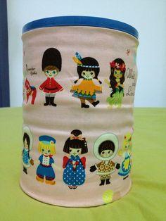 BabyFormula tin covered in fabric