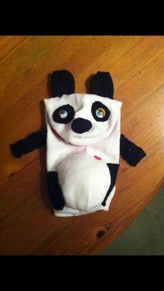 Panda sock puppet